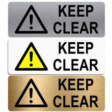 Keep Clear Sign-WITH IMAGE-Aluminium Metal Sign-Door,Notice,Shop,Office,Secure